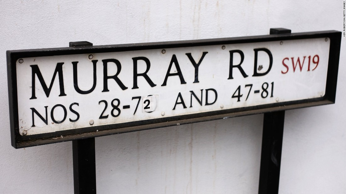 Murray Road is not far from the Wimbledon courts -- but tennis star Andy actually lives 10 miles away in Oxshott, Surrey.