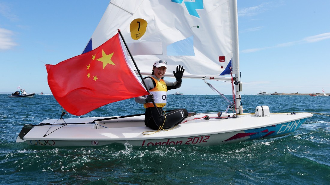 It led to her carrying the Chinese flag at the Games' closing ceremony, but she is embarrassed that, to date, she has only really sailed dinghies.