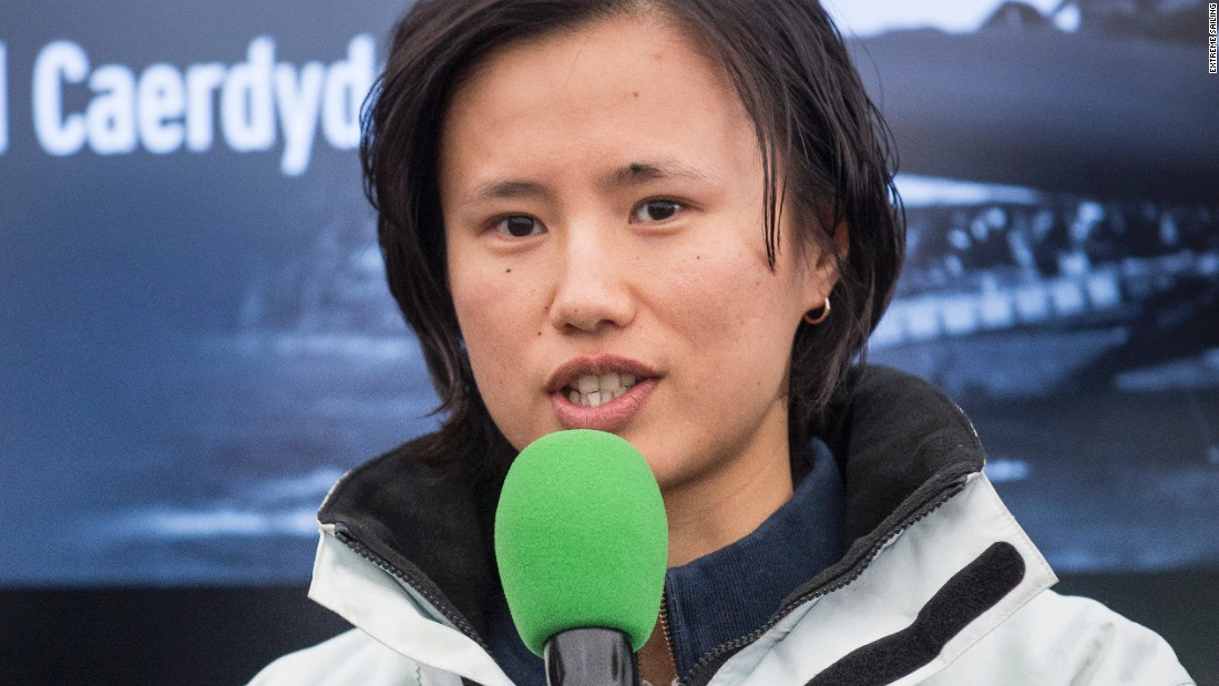 She recently took time out from her studies to act as an umpire at the Extreme Sailing Series round in Cardiff.