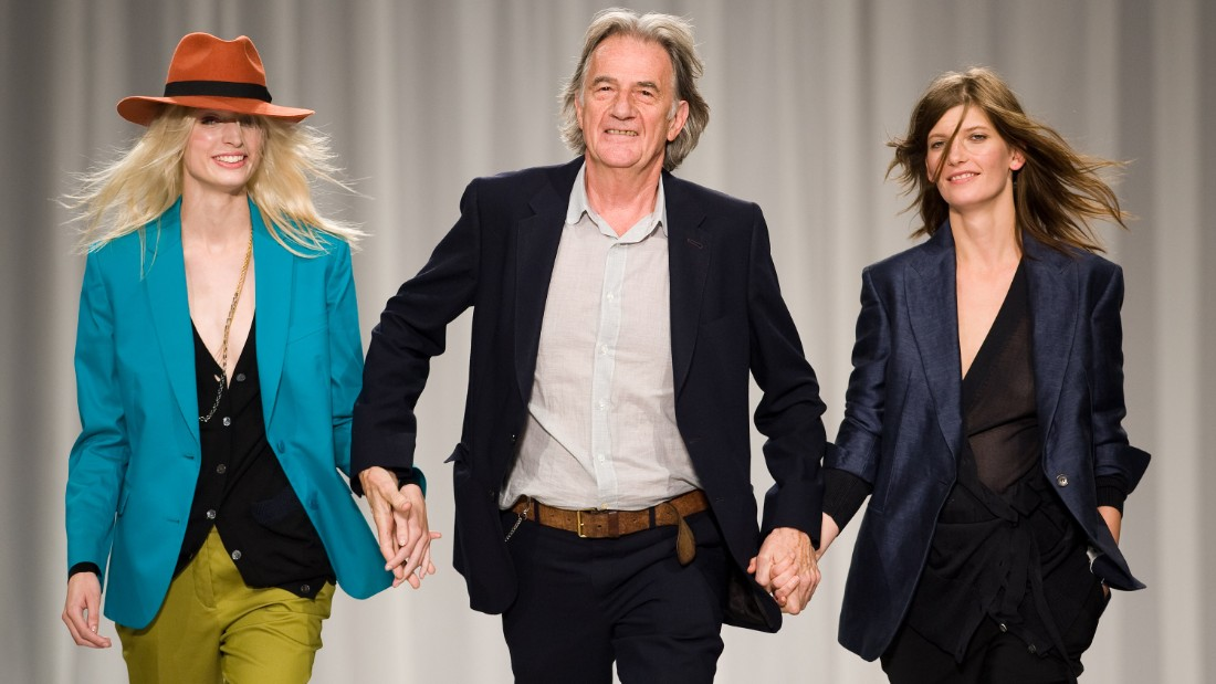 Smith walks the catwalk with models during the Paul Smith LFW Spring/Summer 2012 show at the Royal Horticultural Society on September 18, 2011 in London, England.