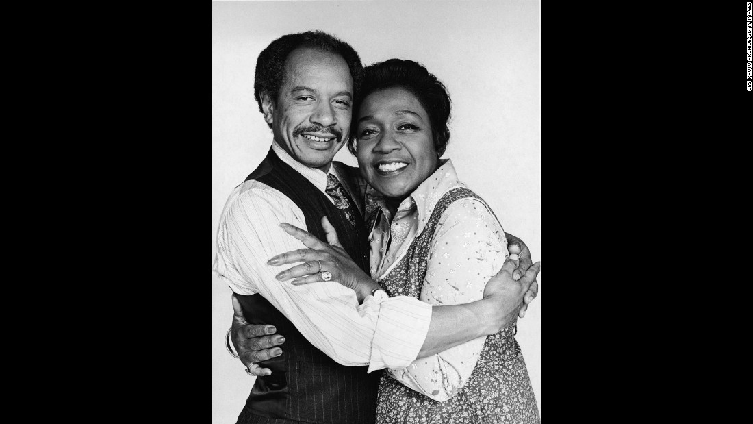 "George and Louise ""Weezy"" Jefferson (Sherman Hemsley and Isabel Sanford) may have had their quarrels, but when it came to ""Movin' On Up,"" they did it together."