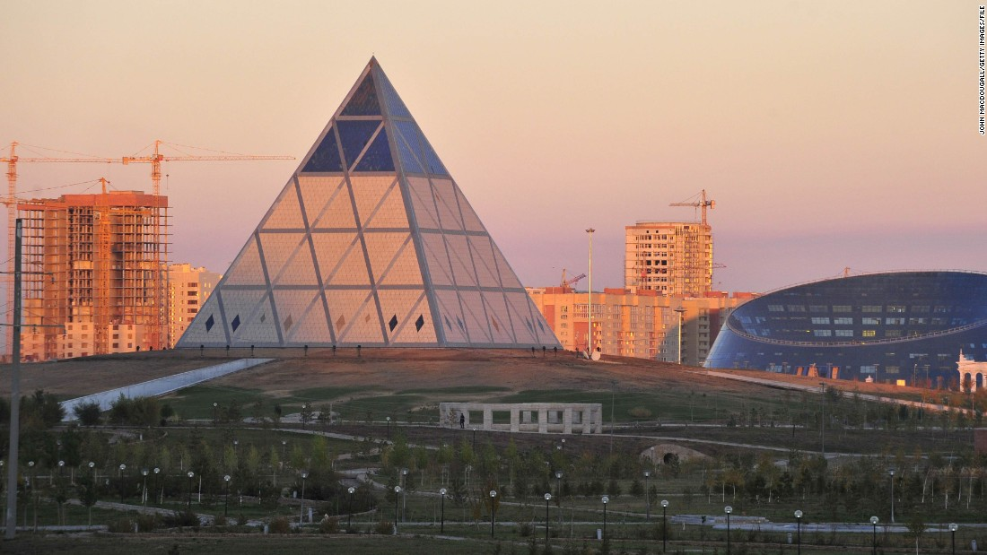 Shabyt Palace of Art (R) and the Palace of Peace and Reconciliation (C) are popular museums in Astana.