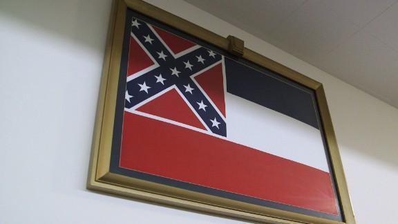 Rep. Bennie Thompson from Mississippi wants his own states flag taken down from the US Capitol