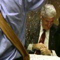 Newt Gingrich glitter bombed
