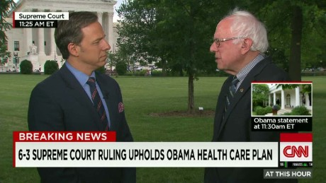 Jake Tapper interviews Sanders on SCOTUS ruling _00002620