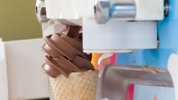 Listeria bacteria like to live in cooler temperatures and populate machinery, such as ice cream dispensers.