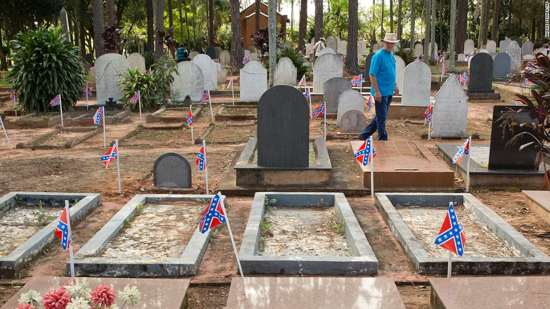 "The fraternity, whose slogan is ""To live and die in Dixie,"" takes over the Campo Cemetery in the otherwise sleepy town and transforms it into a stage for traditional Southern dance, music and food. The cemetery is the final resting place for many of the original American immigrants and their descendants."