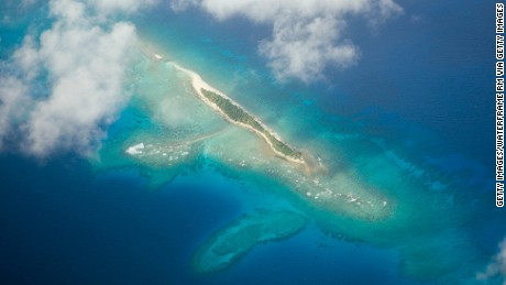 The Marshall Islands are one of the island nations threatened with extinction by climate change.