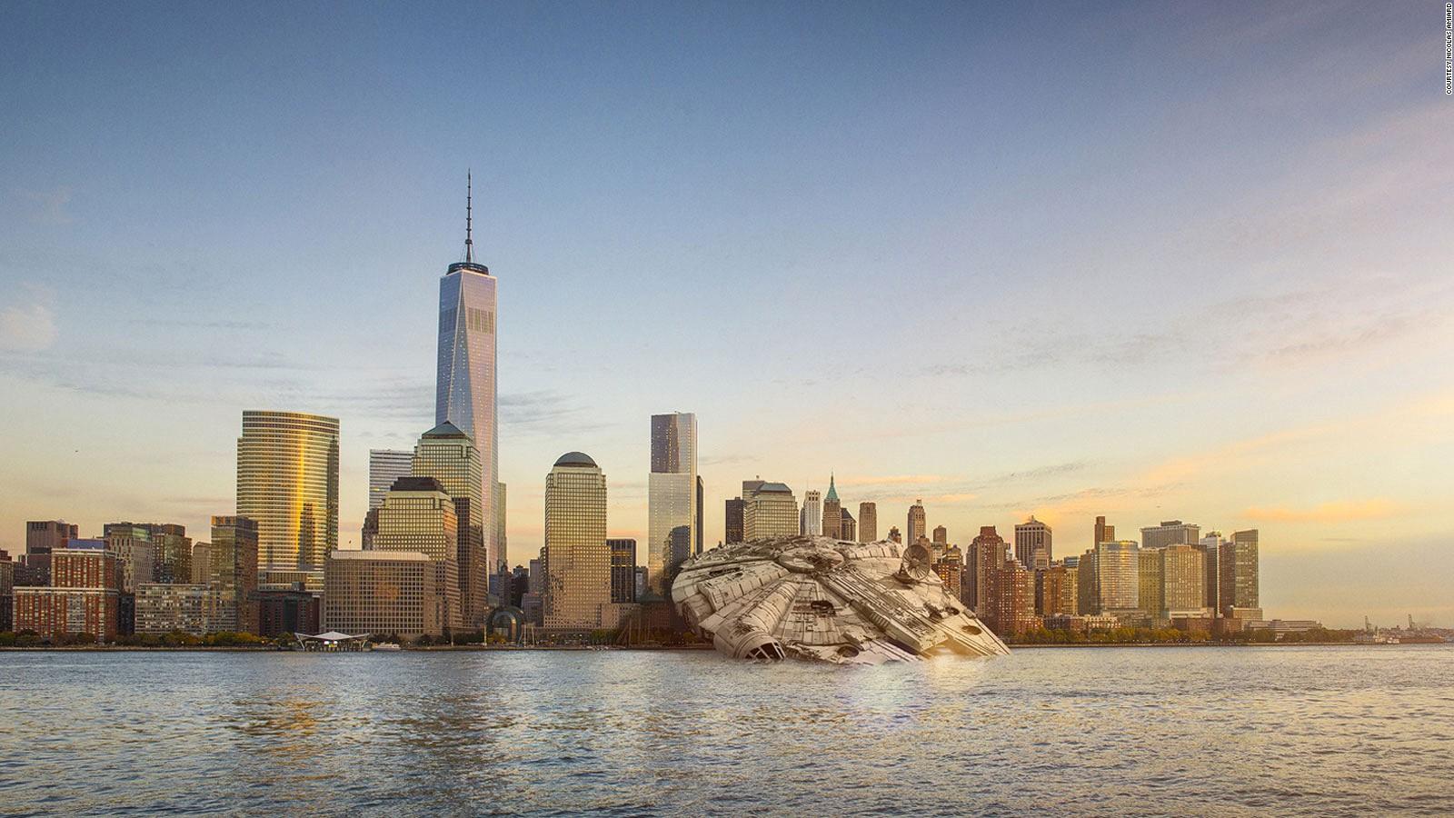 Why Has The Millennium Falcon Crashed In Manhattan Cnn Travel