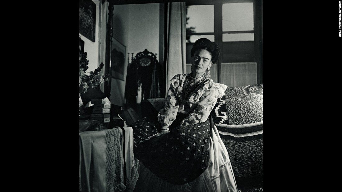 A portrait of Kahlo. She died in 1954 at the age of 47.