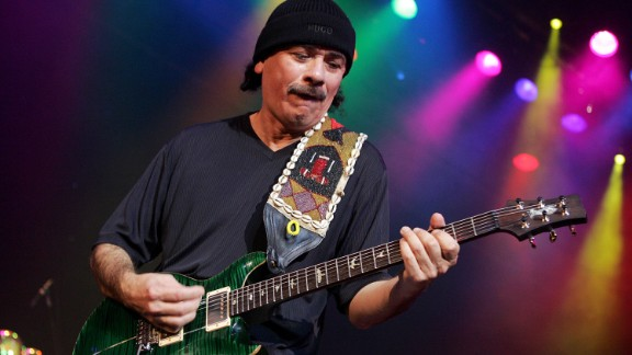Carlos Santana and his band Santana had a number of hit singles in the