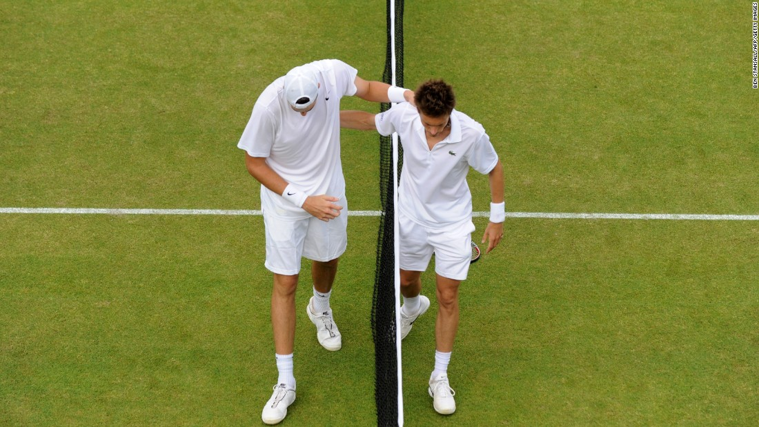 "When it was over, the two exchanged a hug at the net. Isner and Mahut became good friends and are still close to this day. Isner says Mahut is ""a class act."""