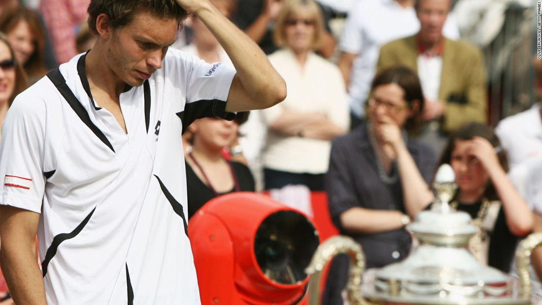 The loss extended a run of painful defeats for the Frenchman. In 2007, he lost to another American, Andy Roddick, in the final of the Aegon Championships at London's Queen's Club after squandering a match point.