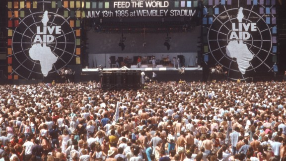Live Aid rocked the world via satellite on July 13, 1985. At least 70 acts performed for about 162,000 fans at stadiums in London and Philadelphia. The worldwide TV audience was estimated at around 1.5 billion. The event reportedly raised $245 million in response to widespread famine in Ethiopia. Click through the photos to see what some of the performers have been up to more than 30 years later: