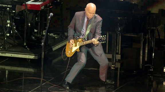 Scottish Live Aid co-founder and performer Midge Ure still tours internationally. Seen here in 2014, Ure recently told The Mirror about his battles with substance abuse before making a new life with his yoga-teacher wife and four daughters.