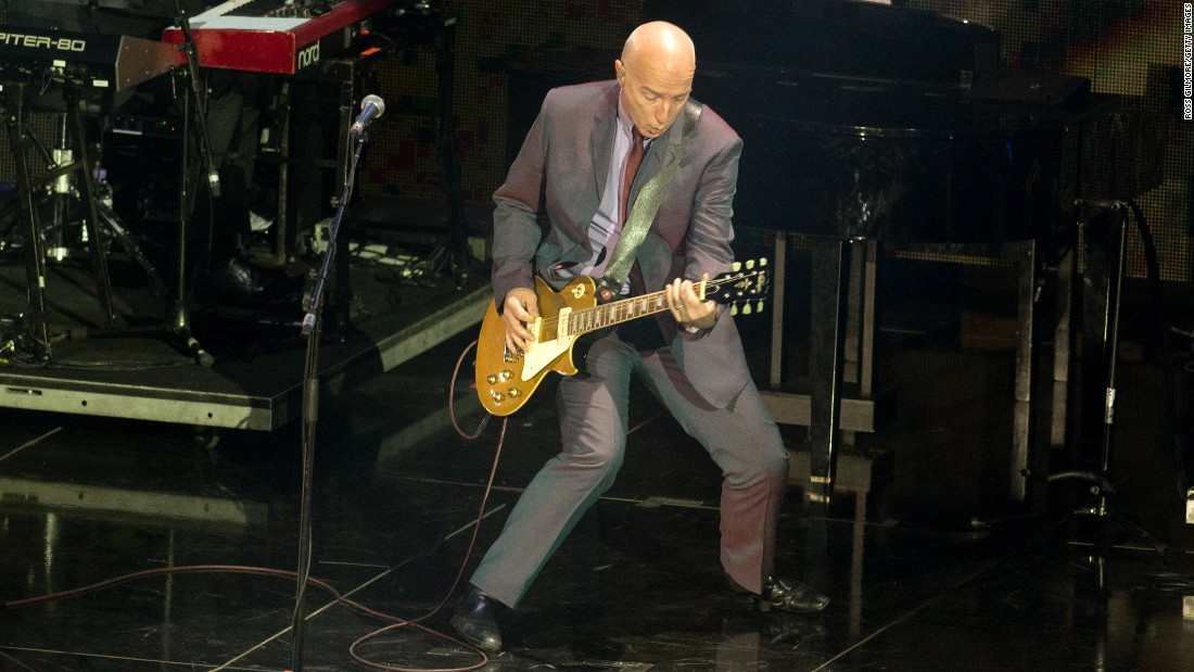 "Scottish Live Aid co-founder and performer Midge Ure still tours internationally. Seen here in 2014, Ure recently told <a href=""http://www.mirror.co.uk/3am/celebrity-news/live-aid-founder-midge-ure-5920506"" target=""_blank"">The Mirror </a>about his battles with substance abuse before making a new life with his yoga-teacher wife and four daughters."