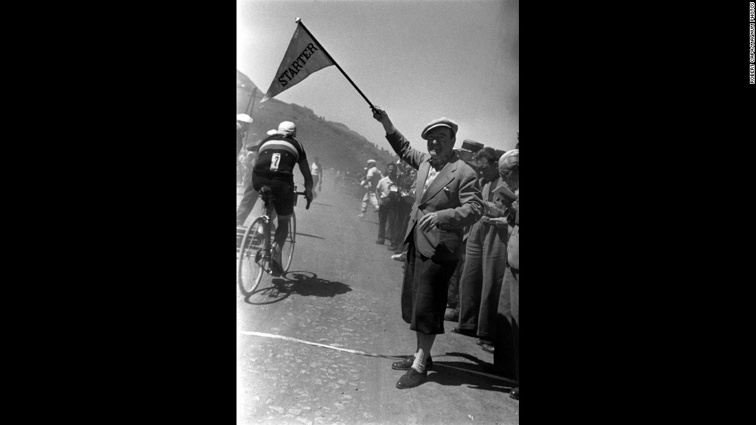 "The Tour de France is less a single race than a series of races -- some sprints, others lengthy trips through the countryside. Capa, who was just 25 when he took these pictures, would go on to chronicle World War II, the postwar Soviet Union and the early days of Israel. He died in 1954 while covering a new war -- one in Vietnam, then part of French Indochina. He was 40. ""He left behind a thermos of cognac, a few good suits, a bereaved world, and his pictures, among them some of the greatest recorded moments of modern history,"" Morris wrote in Capa's obituary."