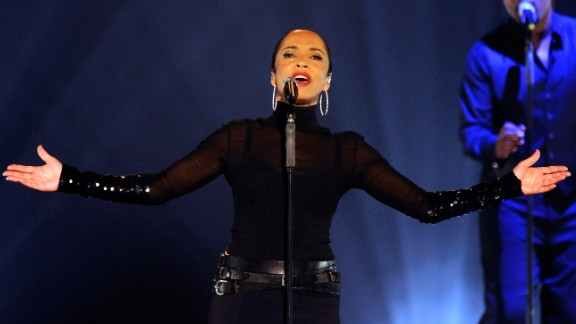 """It's hard to follow Sade, seen here in 2011. The singer who performed """"Your Love Is King"""" and other songs at Live Aid openly admits she """"avoids celebrity."""" She told Reuters in 2012, """"I don't consider myself a celebrity, I consider myself a songwriter and a singer -- a person who makes music."""""""