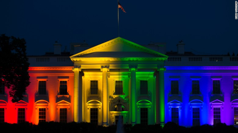 Image result for images of rainbow white house