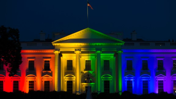 "Baker says he was overwhelmed when he saw the White House lit up like a rainbow after the ruling. He thought: ""I don't have to worry about making the rainbow flag a success anymore."""