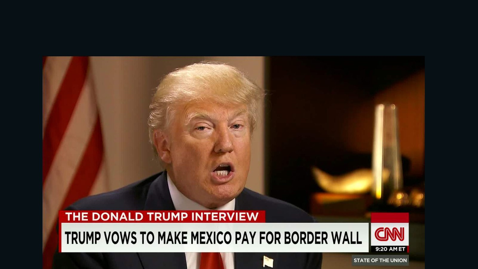 Sotu >> Trump: I will make Mexico pay for a wall on the border - CNN Video