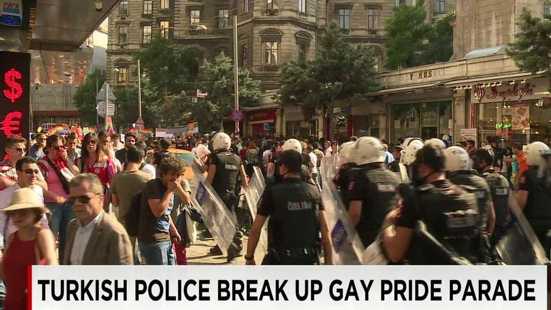 Turkish police fire pepper spray at gay pride parade - CNN