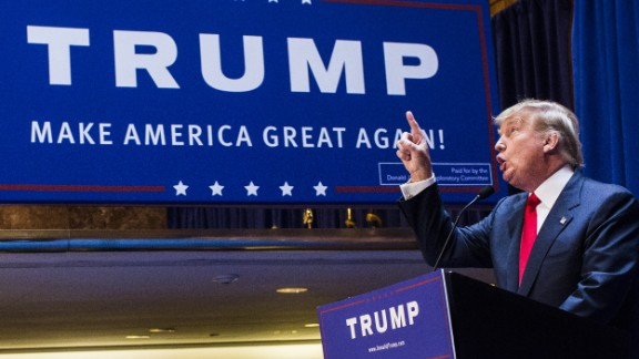 Business mogul Donald Trump announces his candidacy for the U.S. presidency at Trump Tower on Tuesday, June 16, 2015, in New York City.
