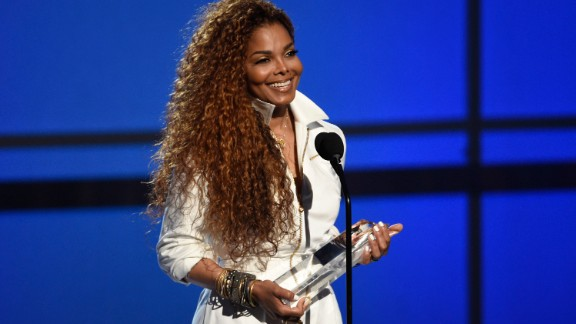 Janet Jackson accepts the Ultimate Icon Award at the BET Awards on Sunday, June 28, in Los Angeles.