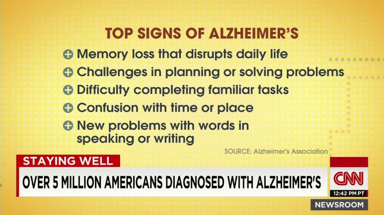 Over 5 million Americans diagnosed with Alzheimer's