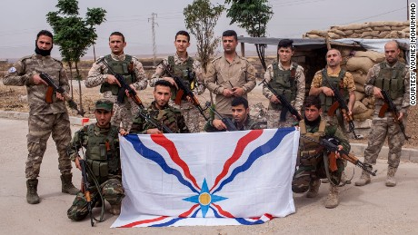 Members of the Nineveh Plains Forces, a Christian militia, are fighting for what's left of their homeland.
