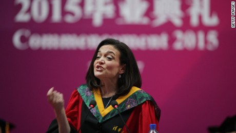 Facebook's Sheryl Sandberg to Chinese graduates: 'Win Hearts, Not Minds'
