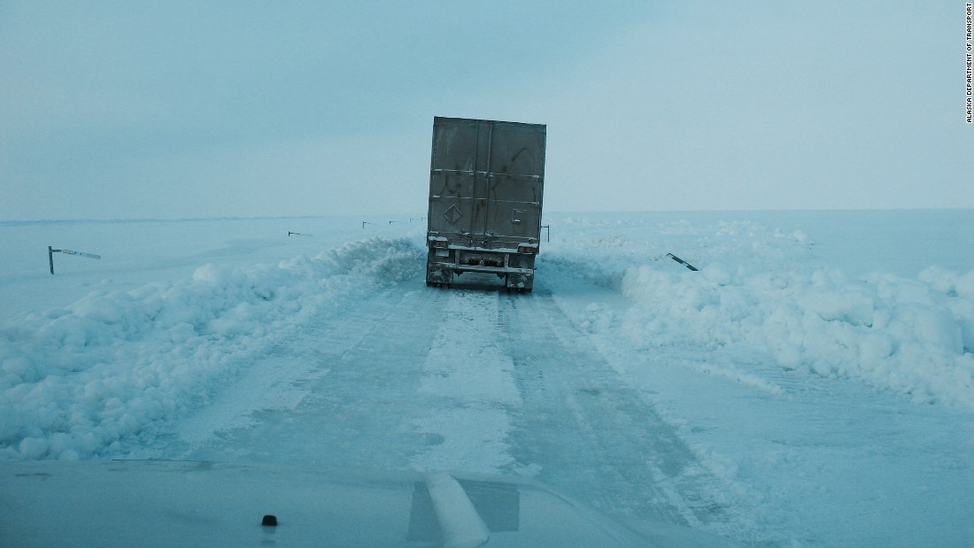 ice road truckers putting alaska   trade map cnn