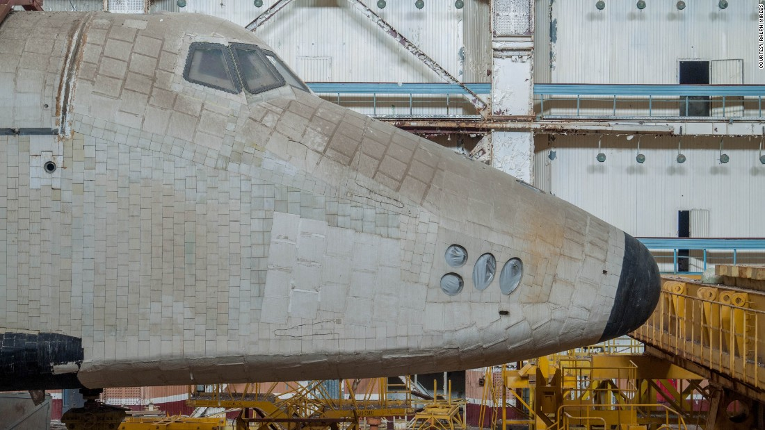 Only one of the reusable Buran shuttles ever made it into space, in 1988, but it was destroyed when the hangar it was housed in collapsed in 2002. Meanwhile, these two prototypes have been left to accumulate dust in the desert steppes of Kazakhstan.