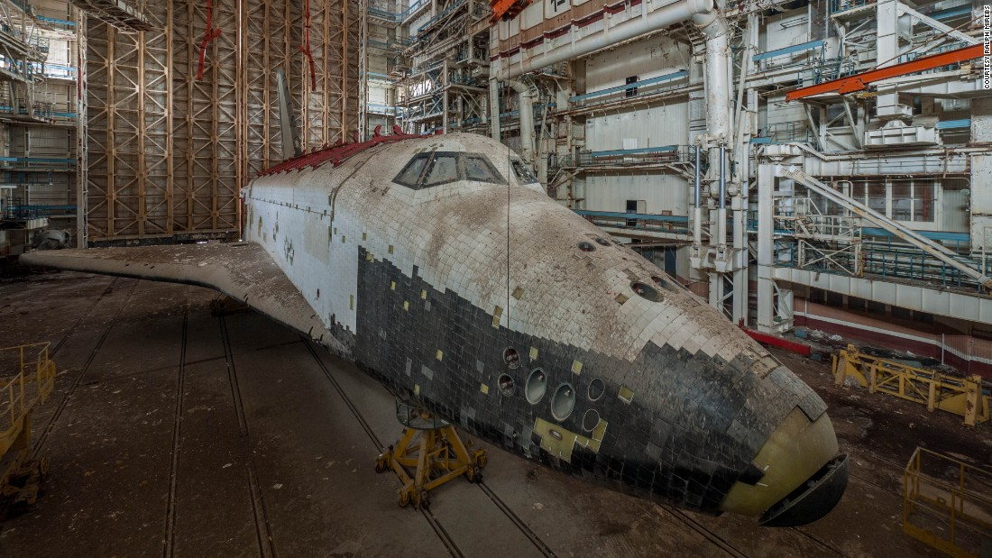 "It's hard to imagine now, but this derelict shuttle was once at the gleaming forefront of the Soviet space program. It was one of a number of dilapidated spacecraft found at the Baikonur Cosmodrome site in Kazakhstan by urban explorer <a href=""http://ralphmirebs.livejournal.com/"" target=""_blank"">Ralph Mirebs. </a>"
