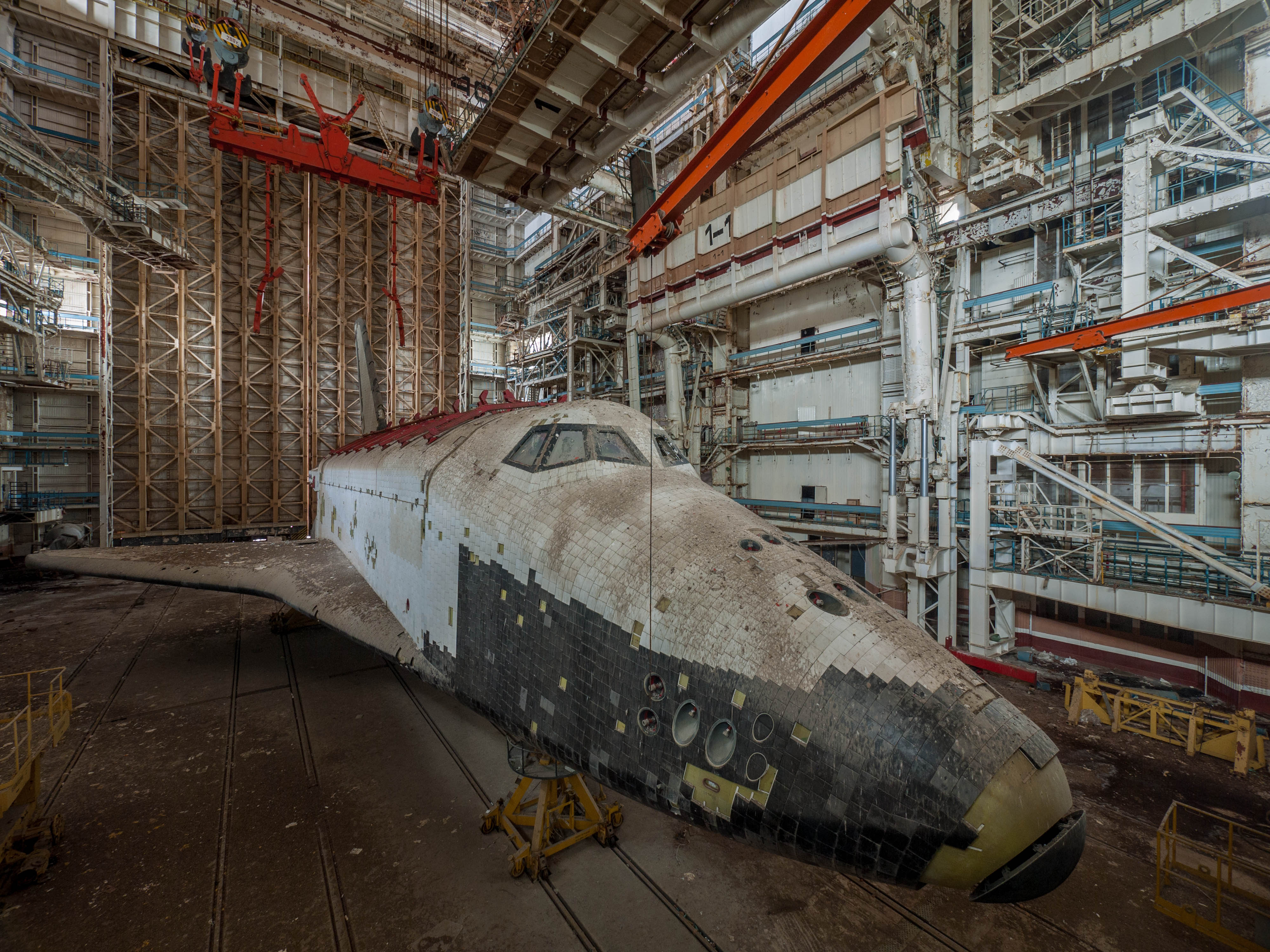 The remains of the Soviet space shuttle program