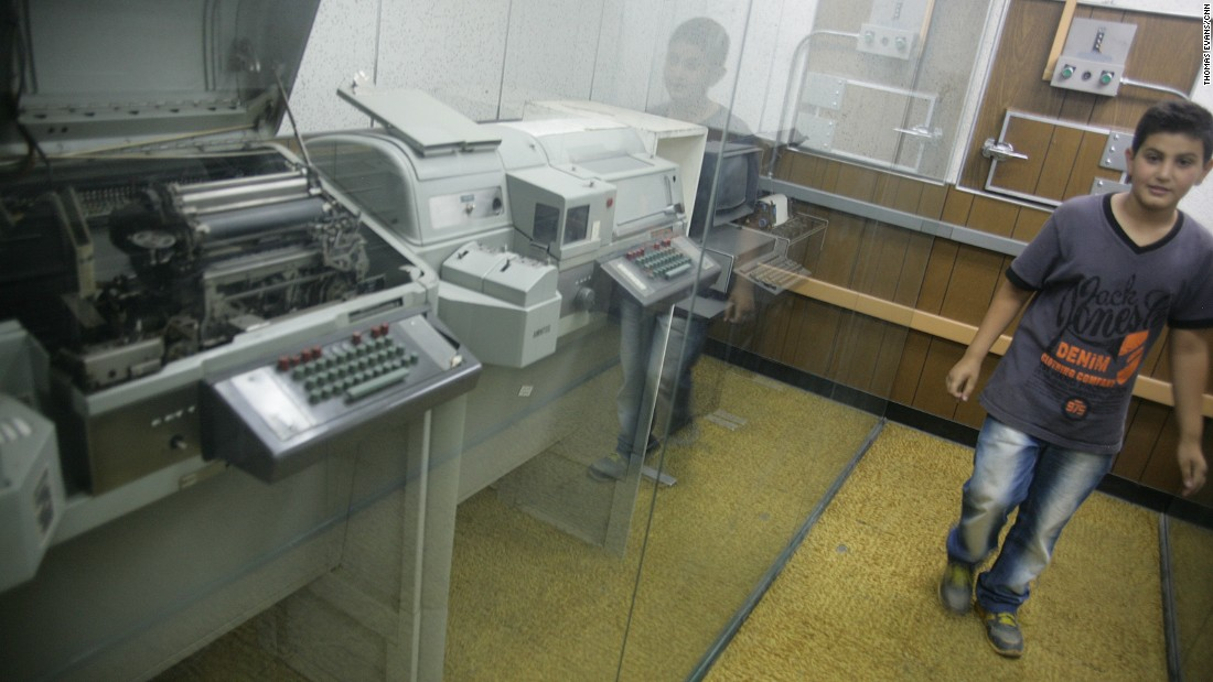 The embassy's communications room included equipment that was considered state-of-the-art in 1979.