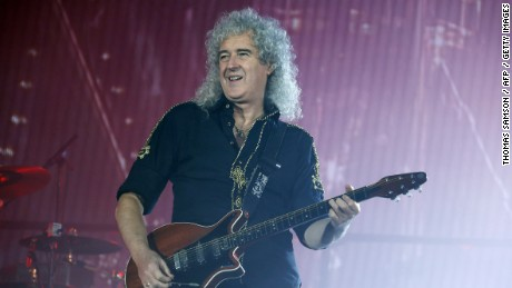 Guitarist Brian May of Queen performs at the Zenith Arena in Paris in January 2015.