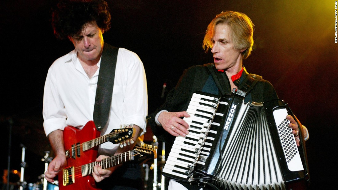 "Remember the Hooters? Maybe not. During Live Aid, the group played its hits ""And We Danced"" and ""All You Zombies."" The Hooters, including Eric Bazilian, left and Rob Hyman, seen here in 2003, reunited more than 10 years ago and continue to tour."