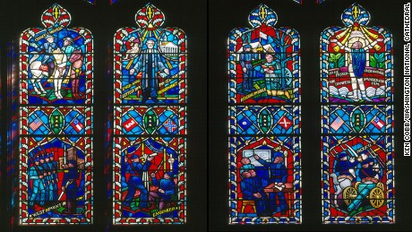 National Cathedral to remove Confederate symbols in windows
