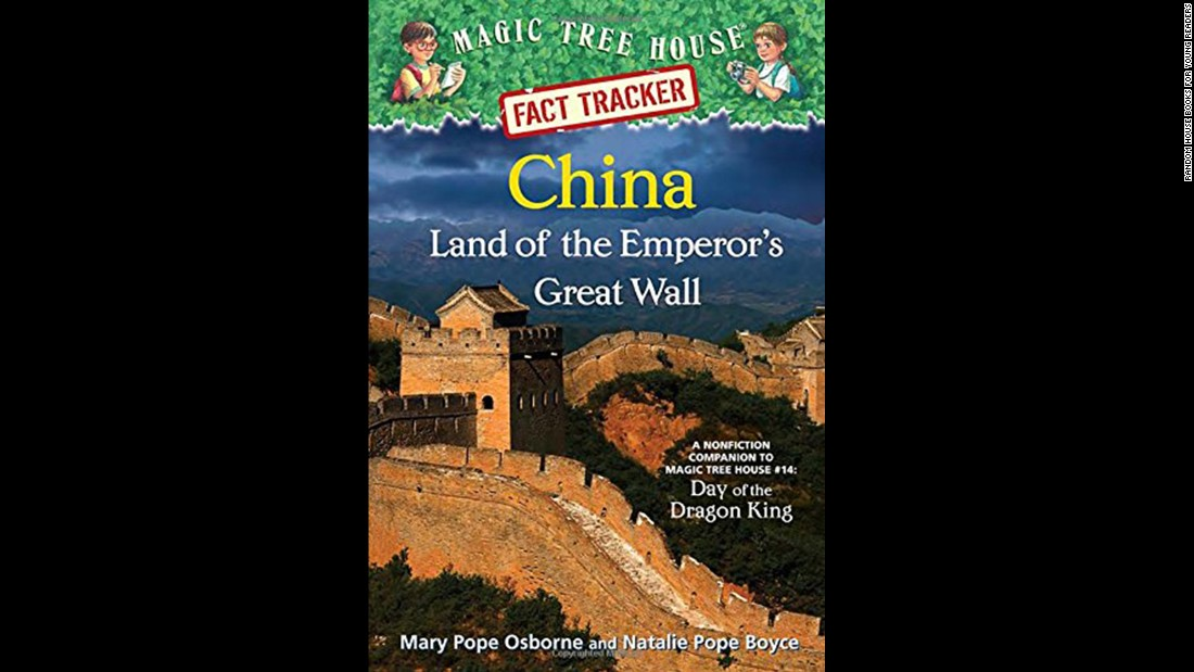 """A companion to the fictional 'Magic Tree House' series, 'Magic Tree House Fact Trackers' give kids the story behind the story, sharing information about the real-life places and events that are part of the chapter books,"" Wilson said. ""In this nonfiction companion to 'Magic Tree House No. 14,' Chinese history and culture is revealed through up-to-date informational text, photographs and illustrations."" Nonfiction, ages 6-8."
