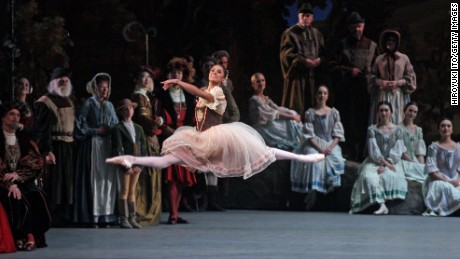 "Misty Copeland during the American Ballet Theater performance of ""Giselle"" at Metropolitan Opera House on Saturday night, May 23, 2015."