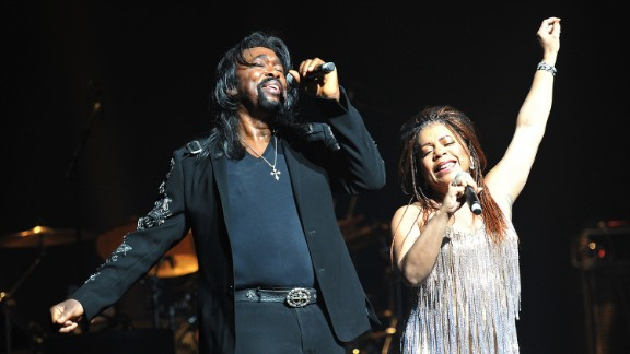"""For a while there was no stopping this husband-and-wife, singing-songwriting team, whose hits were often """"Solid (as a Rock)."""" Nickolas Ashford and Valerie Simpson performed that mega-hit at Live Aid. Twenty-four years later, they sang it at inauguration festivities for U.S. President Barack Obama -- changing the lyrics to """"Solid (as Barack)."""" In 2011, Ashford died at age 70 after battling throat cancer. Simpson continues to perform and recorded an album in 2012."""