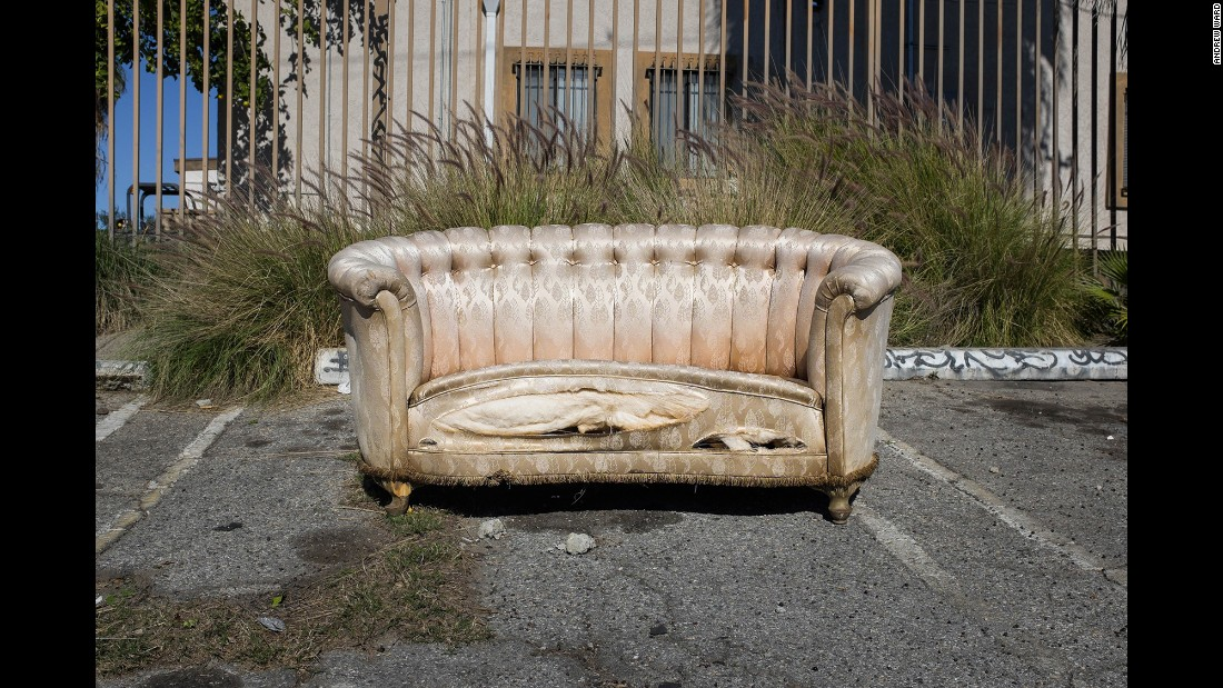 A sofa on Brazil Street in the Atwater Village neighborhood.