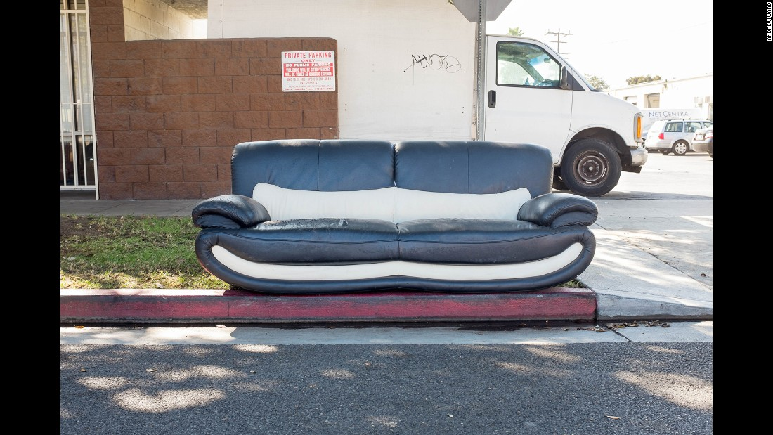 A sofa on Riverdale Drive in Glendale.