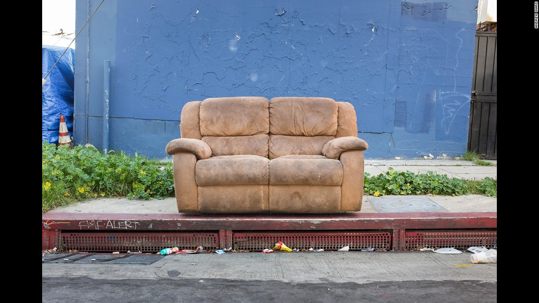 A sofa on Breed Street in Boyle Heights.