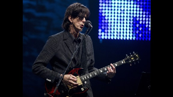"""The Cars' """"Drive"""" provided the music for a heartbreaking video showing famine victims that was played during the Live Aid concert. Three years later, the band broke up. Vocalist and guitarist Ric Ocasek -- shown here in 2011 -- continues to produce recordings for other bands. In 2000, Cars singer/bassist Benjamin Orr lost a fight with cancer at age 53. The remaining members reunited and released an album in 2011."""