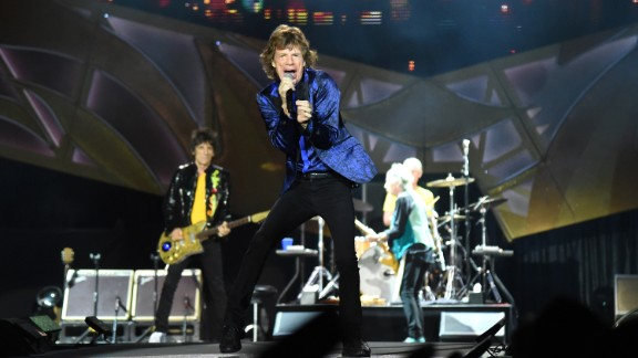 """The Rolling Stones frontman had just released his first solo album, """"She's the Boss,"""" at the time of Live Aid. He sang a song from that album and also performed a sexy duet with Tina Turner. Jagger, now in his 70s, continues to record and tour, including here in Pittsburgh in 2015. He co-produced a 2014 Hollywood film about the life of singer James Brown called """"Get on Up."""""""