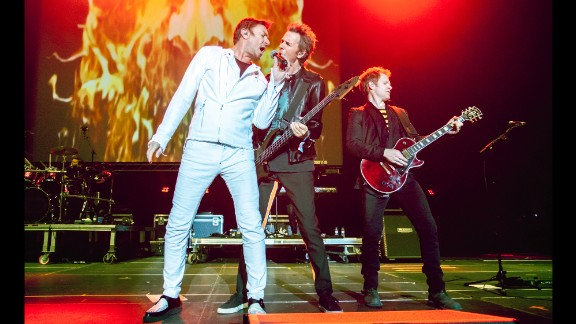"""In the years after Live Aid, Duran Duran scored major hits, including 1986's """"Notorious,"""" 1993's """"Ordinary World"""" and 2004's """"Sunrise."""" The band has toured for years, including this 2015 appearance at the Sonar Music Festival in Barcelona, Spain."""