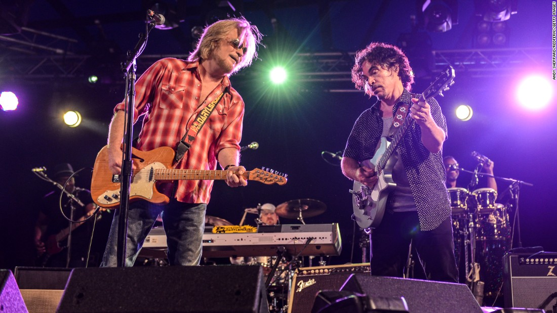 "Not only did singer/guitarist Daryl Hall, left, and singer/guitarist John Oates perform at Live Aid, they also backed up R&B legends Eddie Kendricks and David Ruffin. Hall & Oates were inducted into the <a href=""https://rockhall.com/inductees/hall-and-oates/"" target=""_blank"">Rock and Roll Hall of Fame</a> in 2014. Recently Hall hosted a popular cable TV series, ""Live From Daryl's House,"" that featured him jamming with guest musicians. Hall & Oates are seen here performing in 2014 at Henham Park in Southwold, England."