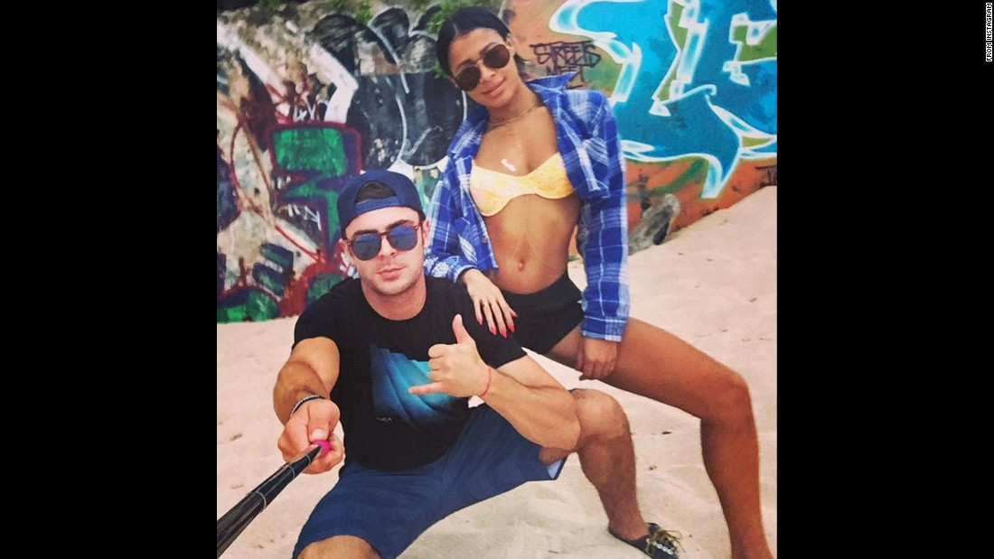 """Unlock the swag,"" said actor Zac Efron as he took <a href=""https://instagram.com/p/4iXqv9G80e/"" target=""_blank"">a selfie with girlfriend Sami Miro</a> on Monday, June 29."